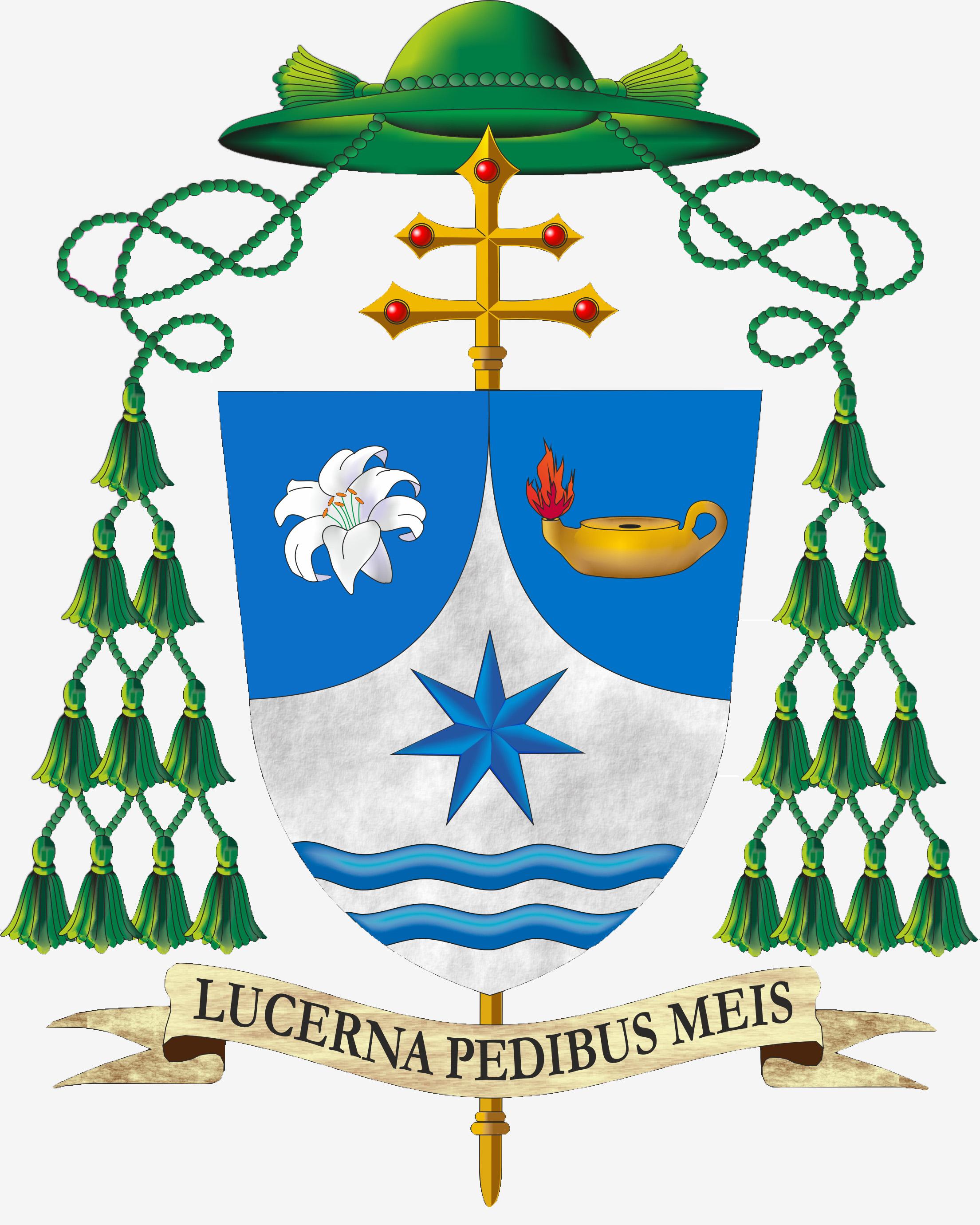 Lo stemma episcopale di di S.E.R. Mons. Luigi Vari Arcivescovo eletto di Gaeta