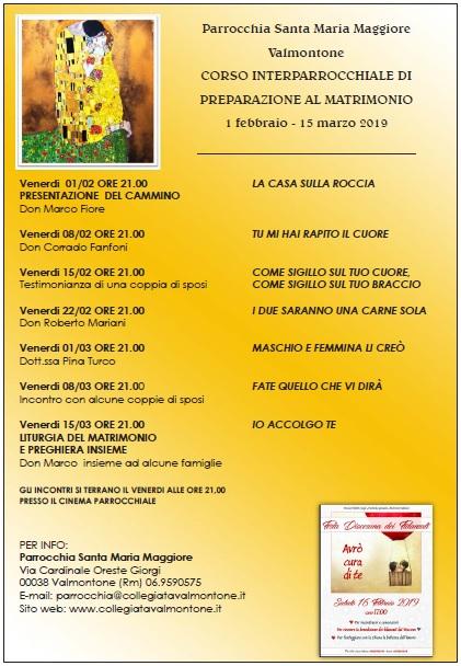 Scarica la Locandina Corso Fidanzati 2019 (pdf-243KB)
