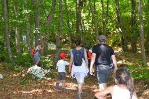 Escursione sotto monte Sirente