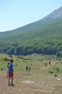 Escursione sotto il monte Sirente